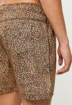 Cotton On - Kahuna short - micro tan leopard