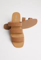 Cotton On - Fallon studded strappy slide - tan