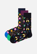Happy Socks - 3-pack celebration socks gift set - multi