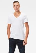 G-Star RAW - Base htr r short sleeve 2 pack tee - white