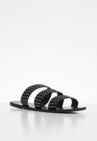 Cotton On - Fallon studded strappy slide - black