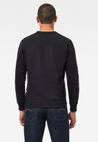G-Star RAW - Raw dot box graphic r long sleeve sweater - black