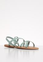 Cotton On - Lucy strappy slingback sandal - green