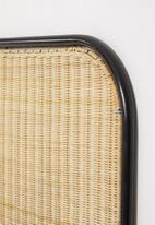 Sixth Floor - Padari iron framed headboard - natural & black