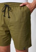 Superbalist - Summer chino short with elastic waistband - khaki