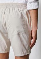 Superbalist - Summer chino short with elastic waistband - grey