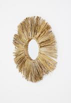 Sixth Floor - Meno raffia mirror - natural