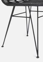 Sixth Floor - Gili rattan chair - black