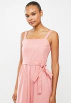 edit - Cotton voile strappy tier maxi - pink