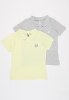 Cotton On - 2 Pack kendricks polo - grey & yellow