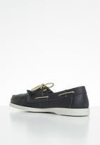 Grasshoppers - Timbego boat leather - natan navy