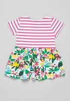 POP CANDY - Girls stripe & floral dress - multi