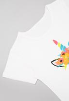 POP CANDY - Girls unicorn tee - white