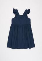 Superbalist Kids - Frill shoulder strap button dress - navy