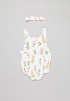 POP CANDY - Girls floral playsuit & headband set - multi