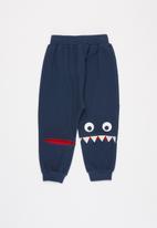 POP CANDY - Boys monster pants - navy
