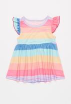 POP CANDY - Girls stripe colourful dress - multi