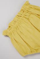 POP CANDY - Baby girls printed dress & pant set - white & yellow
