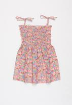 POP CANDY - Girls floral strap dress - pink