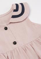 POP CANDY - Girls collar dress - pink & black
