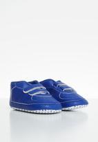 POP CANDY - Baby boys soft sole sneaker - royal blue