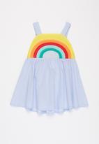 POP CANDY - Girls rainbow dress - blue