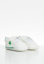 POP CANDY - Baby boys sof sole sneaker - white & green