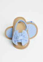 POP CANDY - Girls bow elastic sandal - blue
