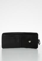 Superbalist - Leather bifold clip wallet - black