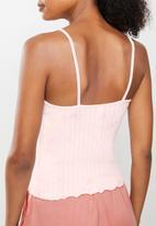 Cotton On - Knit pointelle sleep tank - pink