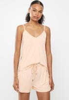 Cotton On - Sleep recovery cami tank - peach & pink