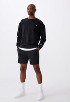 Factorie - Oversized icon crew - washed black