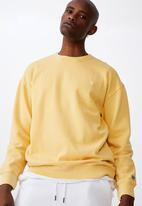 Factorie - Oversized icon crew - washed chalk yellow
