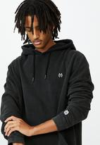Factorie - Oversized icon hoodie - washed black