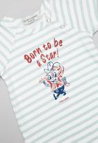 Sticky Fudge - Born a star babygrow - blue