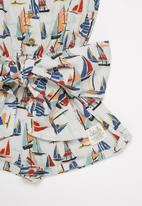 Sticky Fudge - Girls boats frill playsuit - multi