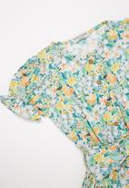 Sticky Fudge - Girls floral playsuit - multi