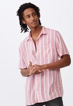 Factorie - Resort shirt - pink stripe