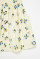 Sticky Fudge - Girls umbrellas tea dress - multi