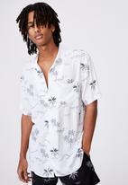 Factorie - Resort shirt - white hawaii