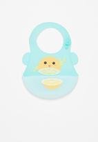 POP CANDY - Baby citrus waterproof bib - light blue