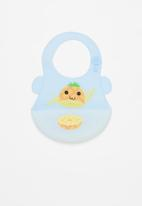 POP CANDY - Baby pineapple waterproof bib - blue