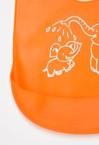 POP CANDY - Baby elephant waterproof bib - orange