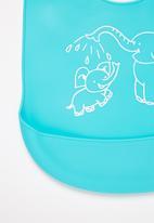 POP CANDY - Baby elephant waterproof bib - turquoise