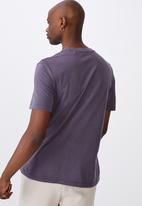 Factorie - Regular washed T-shirt - dark grape