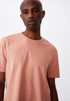 Factorie - Regular washed T-shirt - desert orange