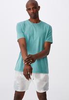 Factorie - Regular washed t shirt - washed teal