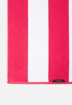 Linen House - Cabana beach towel - ruby
