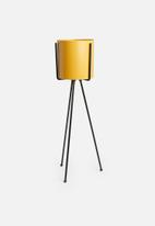 Sixth Floor - Lana planter with stand - yellow