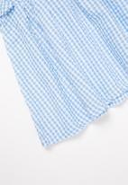 POP CANDY - Girls gingham ruffle dress - blue